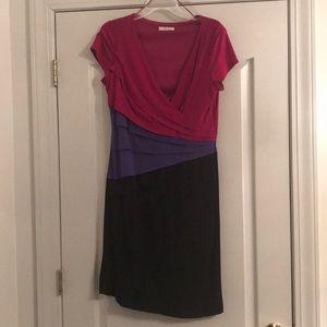 Ruffled Colorblock Dress